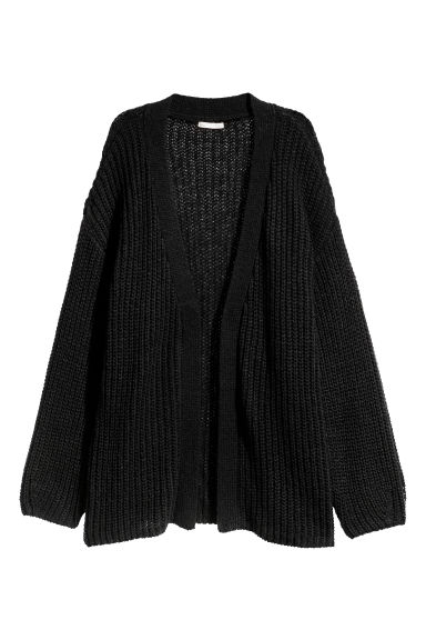 Loose-knit cardigan - Black - Ladies | H&M