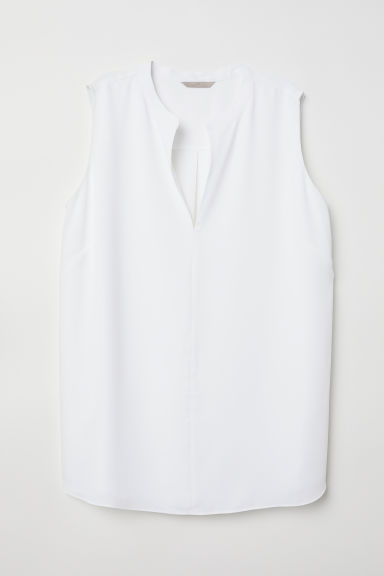 H&M+ Top - White - Ladies | H&M CN