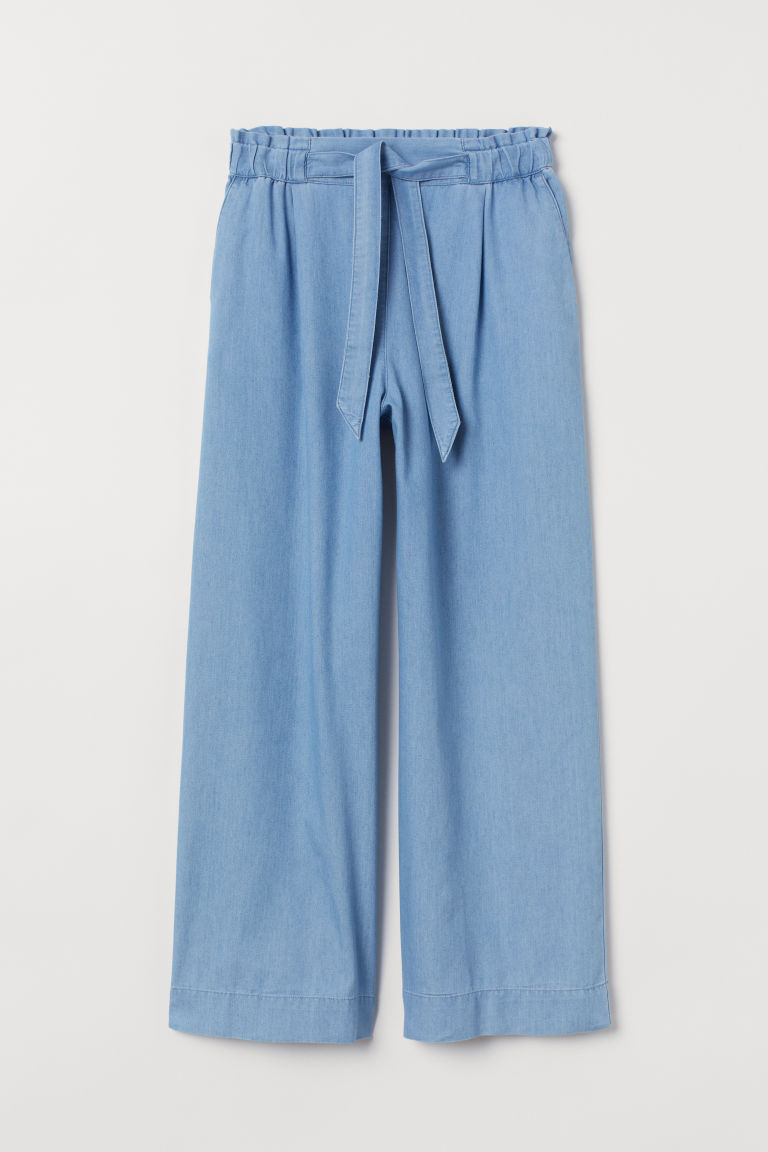 Weite Schlupfhose - Hellblau - Ladies | H&M AT