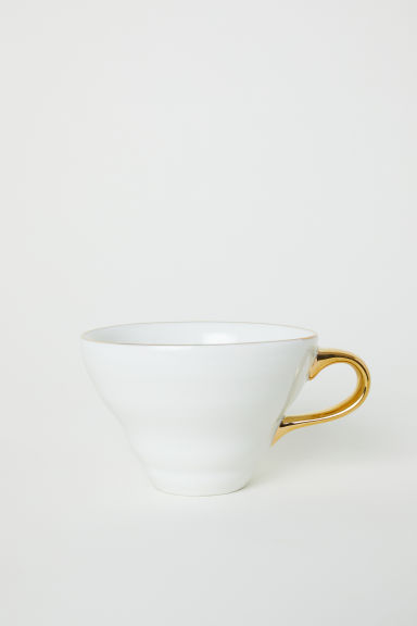 Textured porcelain cup - White - Home All | H&M CN
