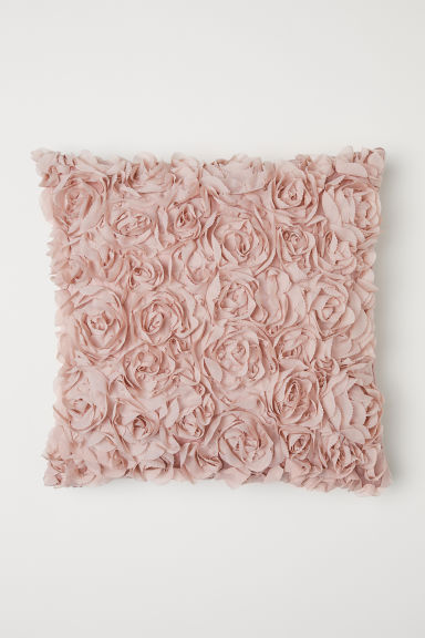 Chiffon flower cushion cover - Light pink - Home All | H&M CN