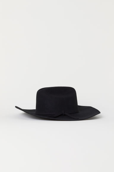 Felted wool hat - Black - Ladies | H&M