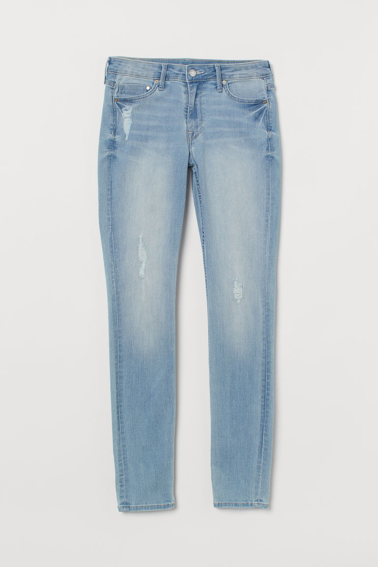 Skinny Regular Jeans - Blu denim chiaro/Trashed -  | H&M IT