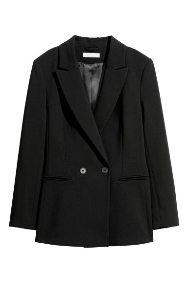 Double-breasted jacket - Black - Ladies | H&M