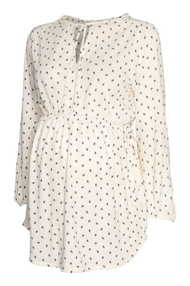MAMA Blouse - Natural white/Patterned - Ladies | H&M CN