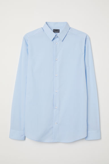 Premium cotton shirt - Light blue -  | H&M IE