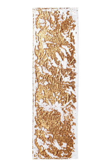 Reversible-sequin Table Runner - White/gold-colored - Home All | H&M CA
