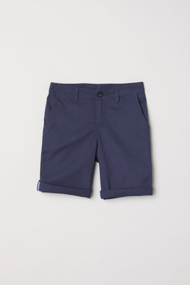 Generous Fit Chino shorts - Dark blue - Kids | H&M