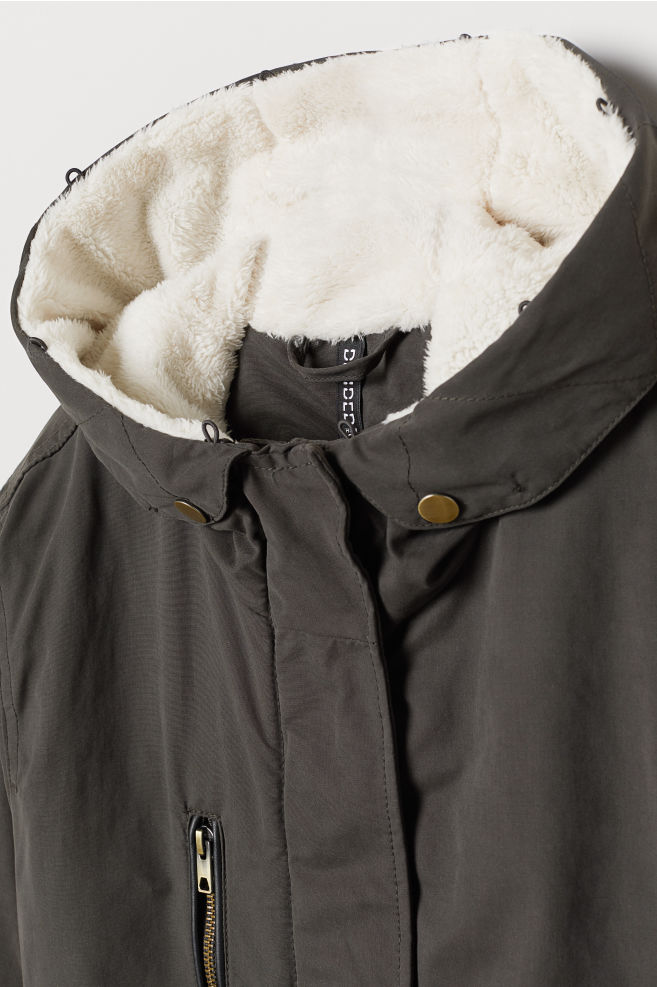 7a18ccf7bd8dc Padded Parka with Hood - Dark gray -