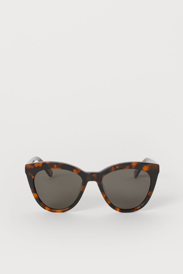 Polarised sunglasses - Brown/Tortoiseshell-patterned - Ladies | H&M CN