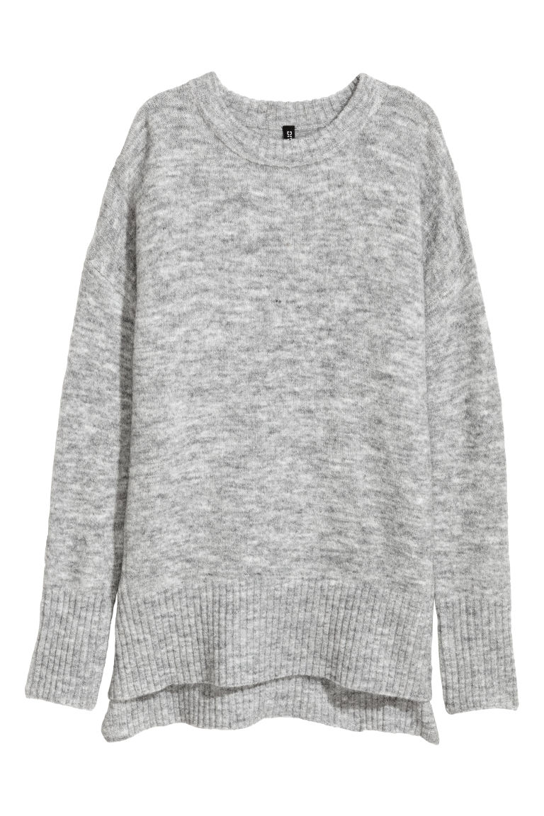 Knitted jumper - Light grey -  | H&M