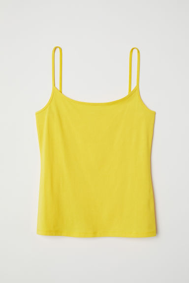 Jersey strappy top - Yellow - Ladies | H&M CN