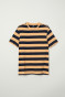 Light orange/Dark blue striped