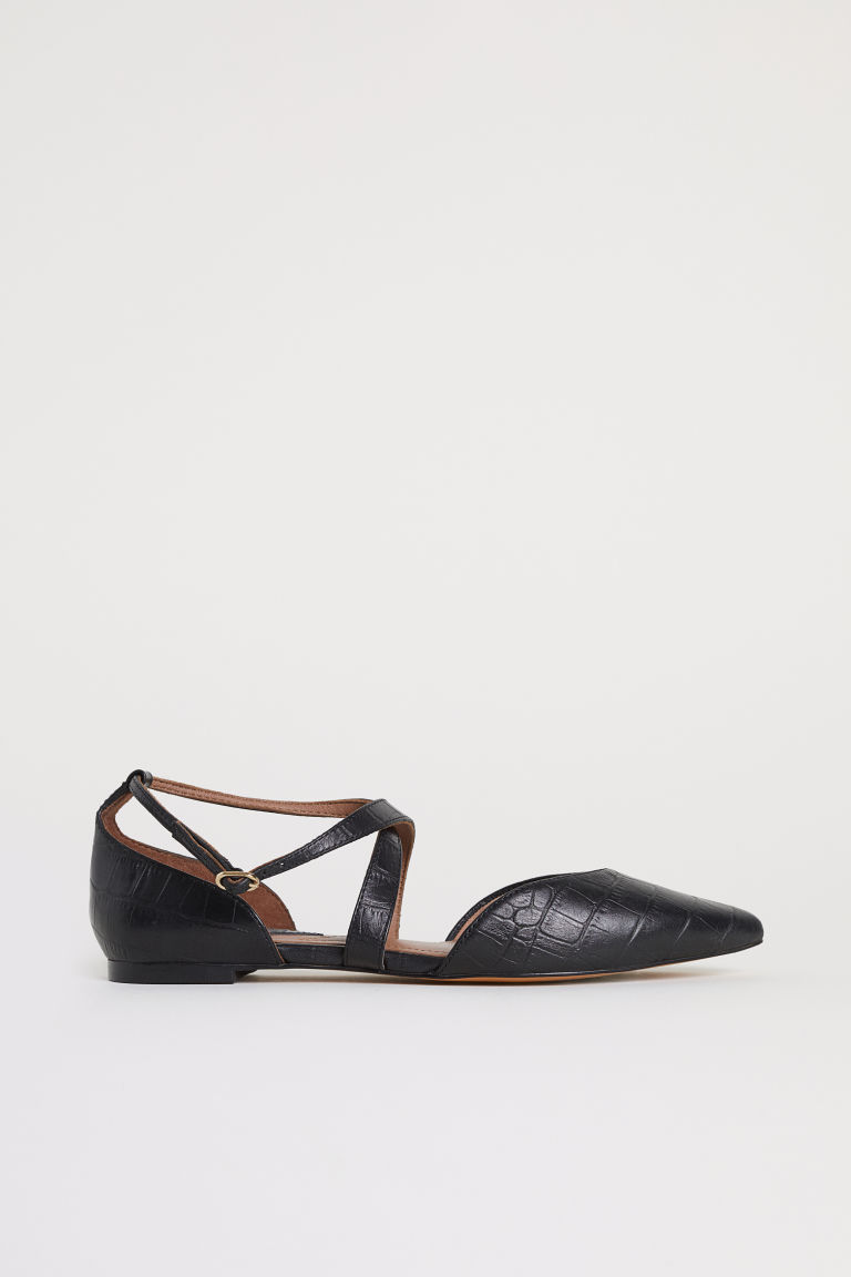 Ballet pumps with a strap - Black - Ladies | H&M