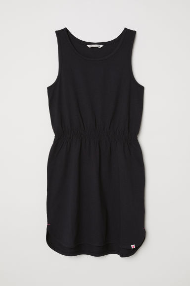 Sleeveless jersey dress - Black - Kids | H&M