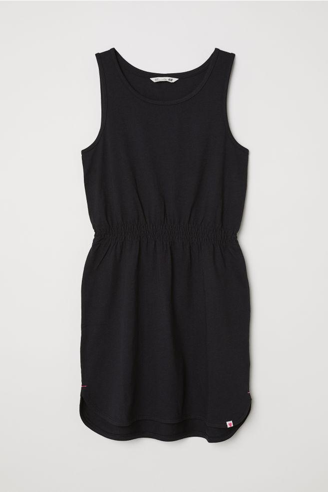 eb21c22304f6 Jerseykjole uden ærmer - Sort - BØRN