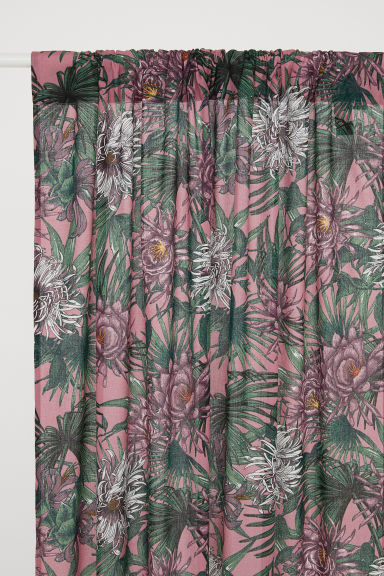 2-pack curtain lengths - Deep pink/Patterned - Home All | H&M CN