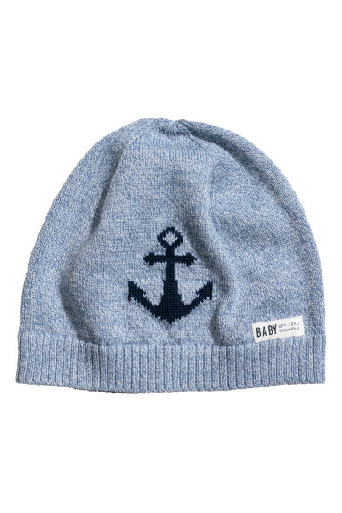 Fine-knit hat - Blue marl -  | H&M CN
