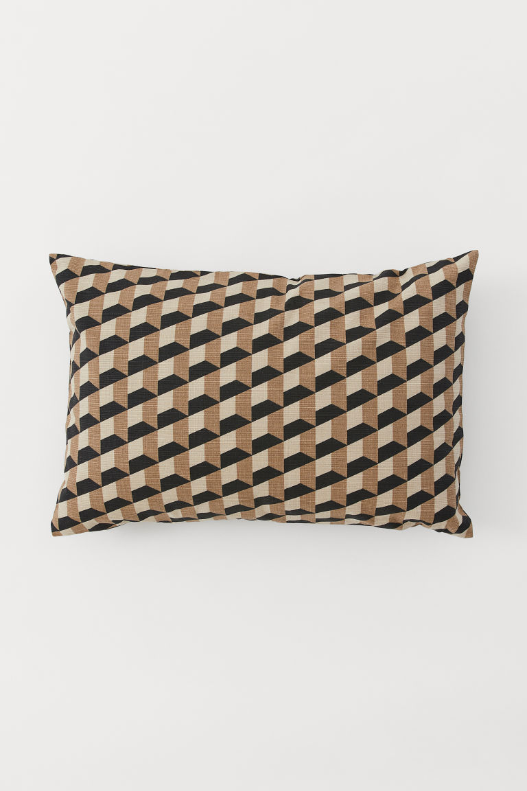 Patterned cushion cover - Beige/Patterned - Home All | H&M GB