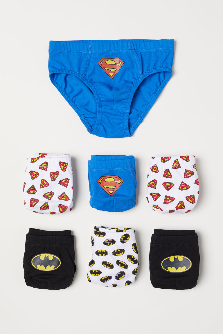 7-pack boys' briefs - Blue/Batman/Superman - Kids | H&M CN