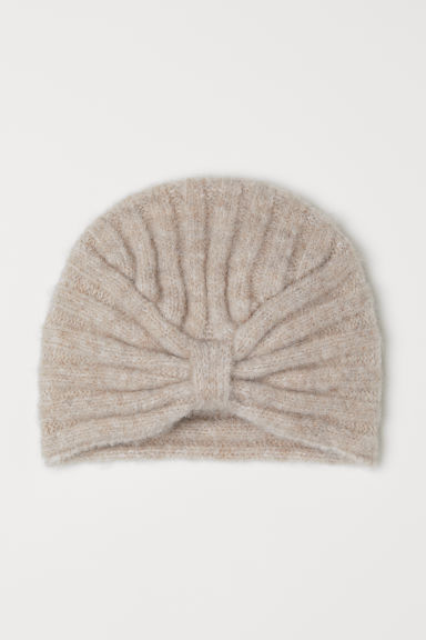 Knitted turban - Beige marl - Ladies | H&M CN