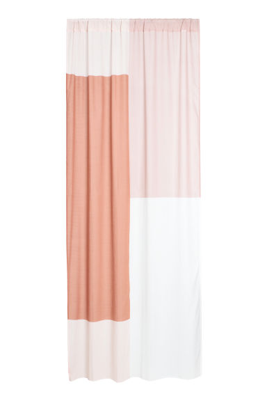 2-pack printed curtain lengths - Powder pink/Rust -  | H&M IE