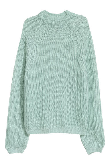 Glittery jumper - Light green - Ladies | H&M CN