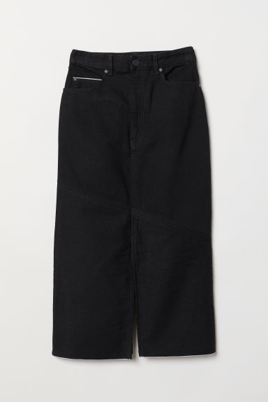 Long denim skirt - Black -  | H&M