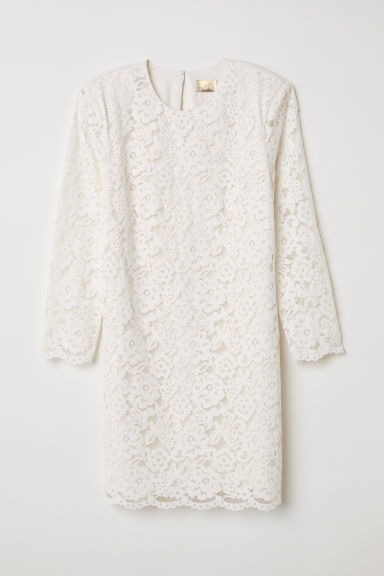 Short lace dress - White - Ladies | H&M
