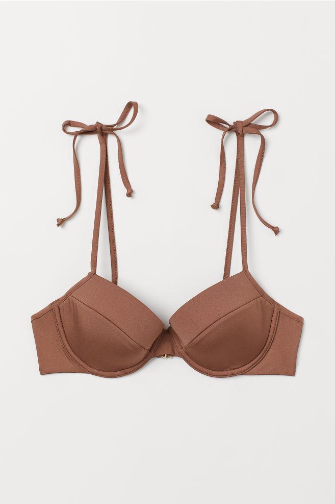 2aff106b6998 ... Top bikini con ferretto - Marrone chiaro - DONNA | H&M ...