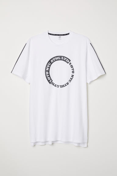 Sporty T-shirt - White - Men | H&M