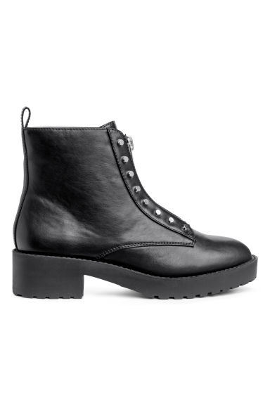 Zipped ankle boots - Black -  | H&M