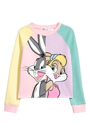 Printed sweatshirt - Light pink/Looney Tunes -  | H&M CN
