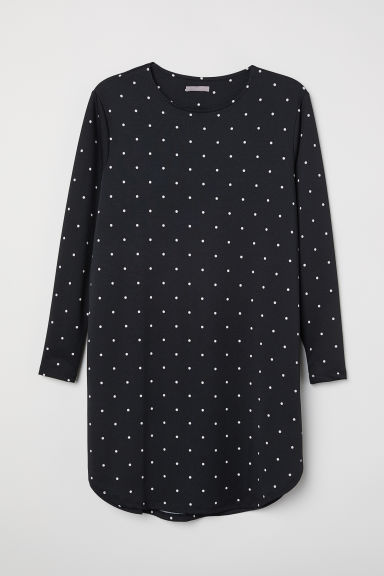 H&M+ Jersey tunic - Black/Spotted - Ladies | H&M CN