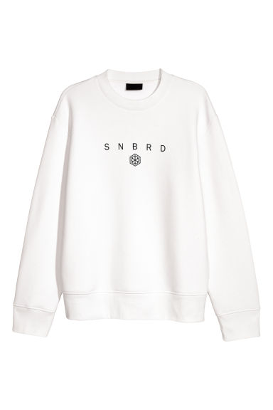 Sweatshirt - White -  | H&M