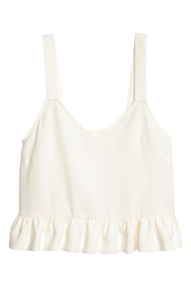 Lyocell top - White -  | H&M GB
