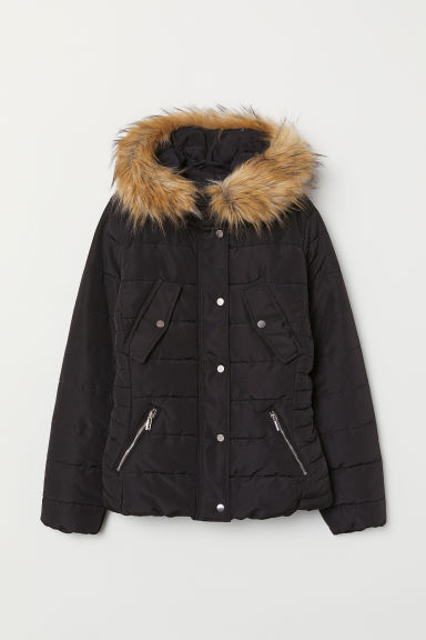 Padded jacket - Black - Ladies | H&M CN