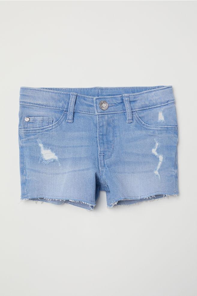 65fb2491b1 Denim shorts - Light blue - Kids | H&M ...