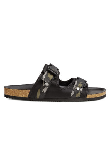 Scuba sandals - Black/Patterned - Men | H&M CN