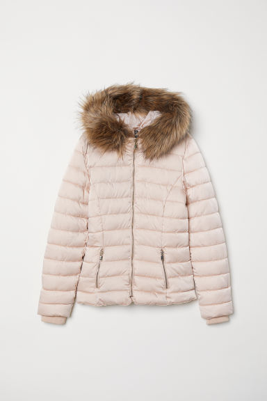 Padded hooded jacket - Powder pink - Ladies | H&M