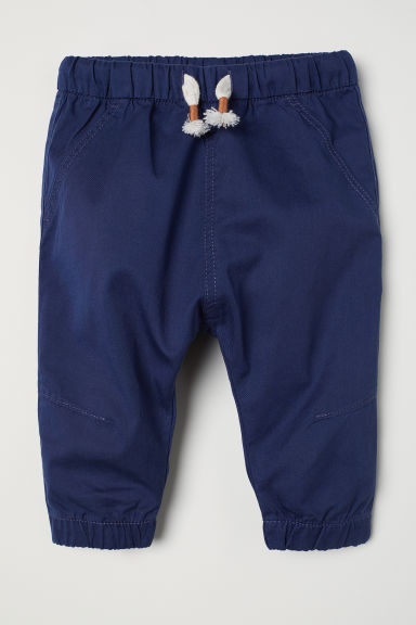 Twill pull-on trousers - Dark blue - Kids | H&M CN