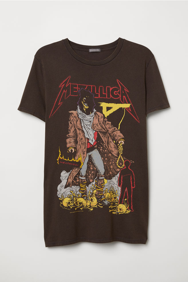 Camiseta en punto de algodón - Gris oscuro Metallica - HOMBRE  2a7d47efabb23