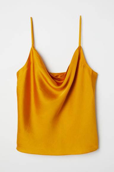Sleeveless top - Amber-coloured - Ladies | H&M