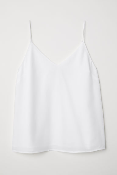Silk strappy top - White - Ladies | H&M