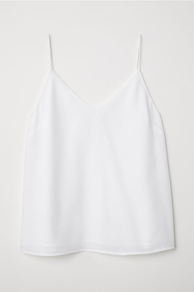 414f9abd7aa94 ... Silk strappy top - White - Ladies