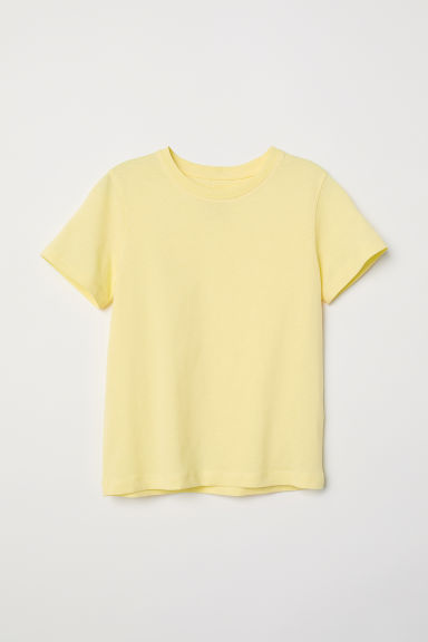 Cotton T-shirt - Light yellow -  | H&M