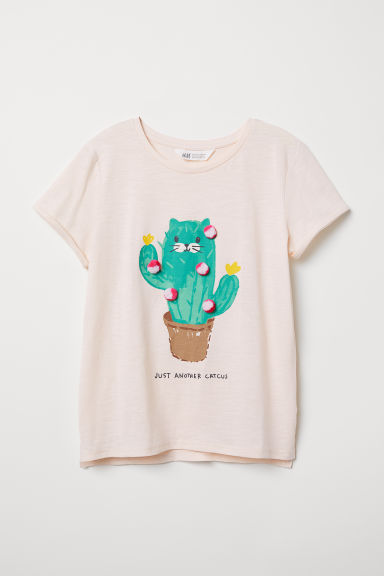 T-shirt con motivo - Rosa/Just Another Cactus - BAMBINO | H&M IT