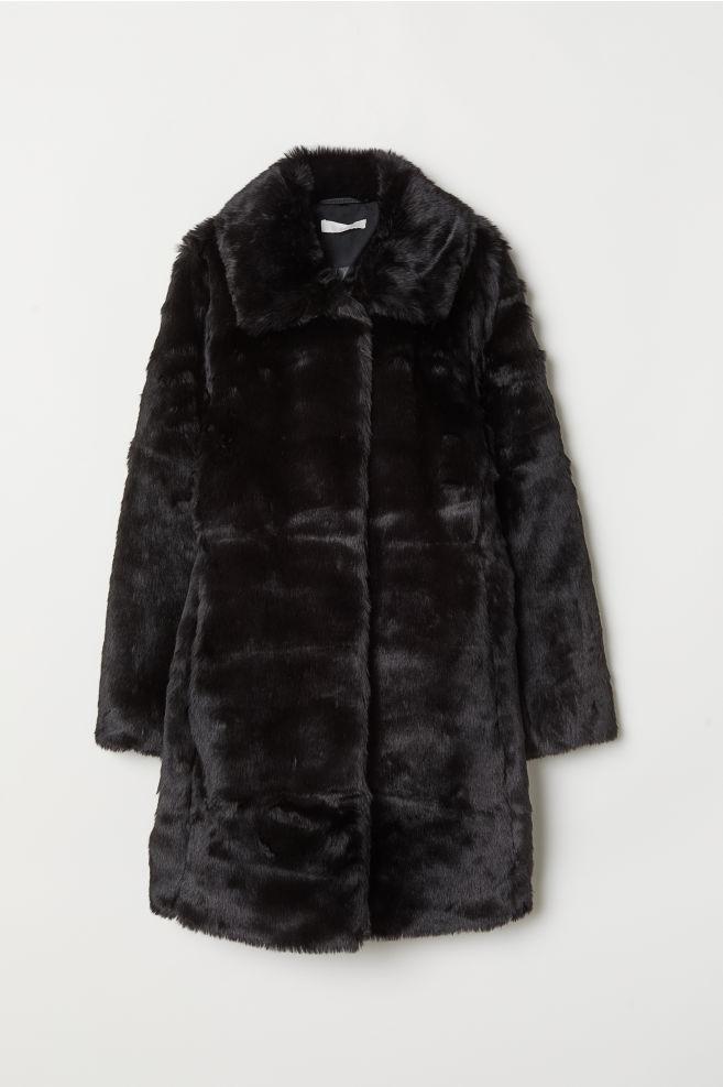 45acad0ec1 Műszőrme kabát - Fekete - NŐI   H&M ...