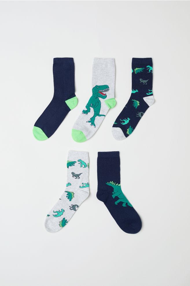 5 pár zokni - Zöld dinoszauruszos - GYEREK  f21e54ecf3