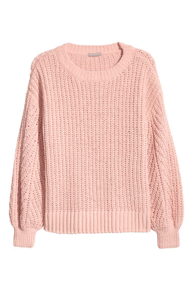 H&M+ Gerippter Pullover - Puderrosa -  | H&M CH